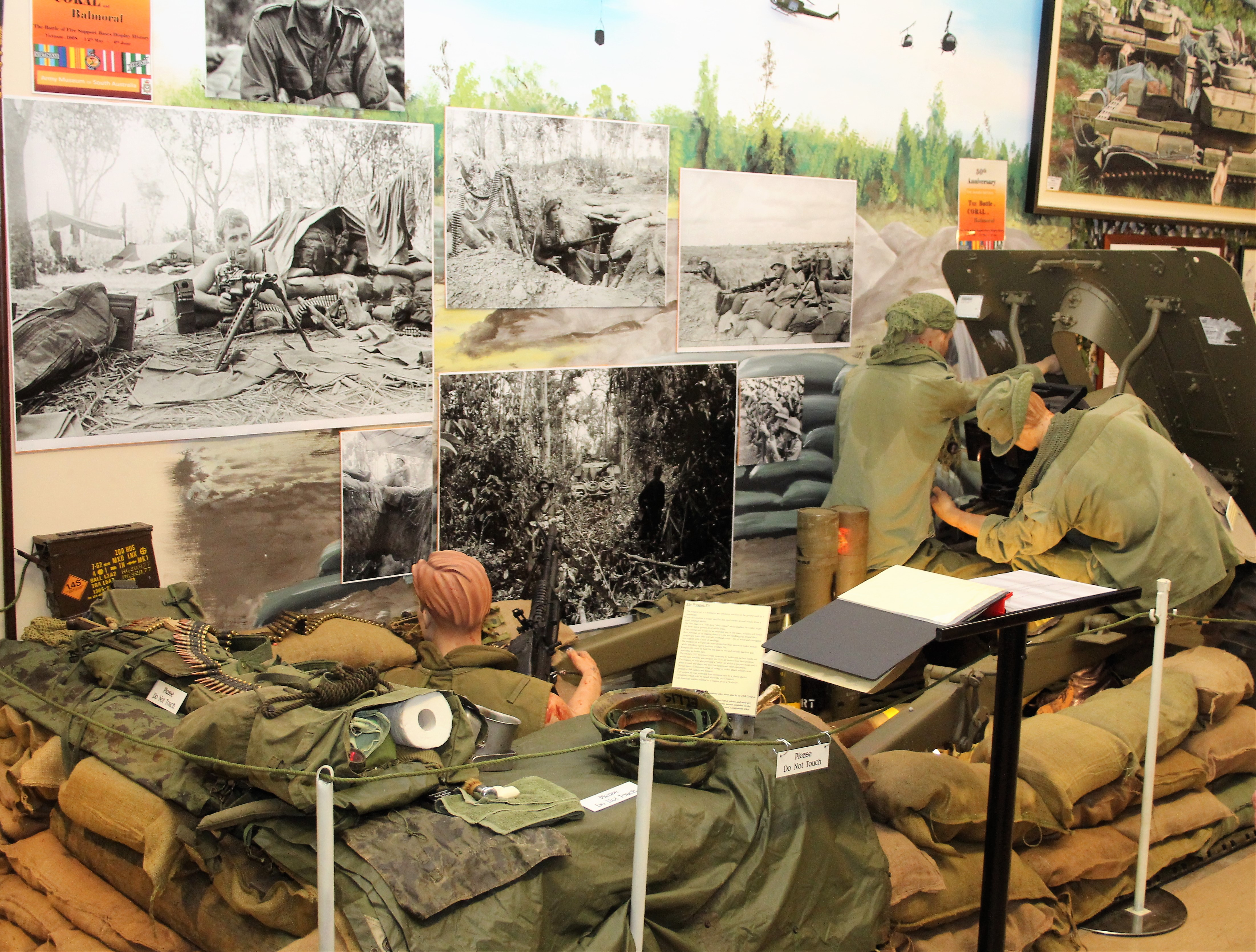 Battle of Coral and Balmoral, Vietnam display