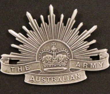Pewter Rising Sun Badge small