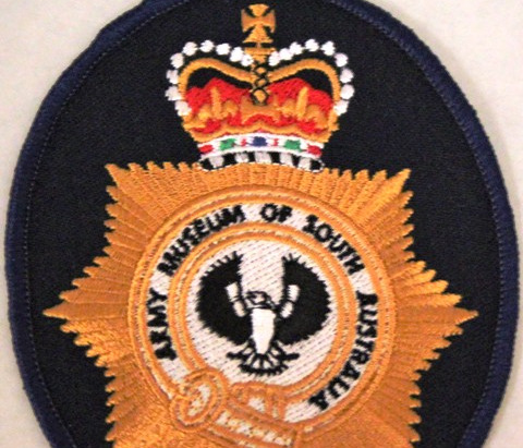 Amosa embroidered badge